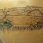 Paisagem do Rio de Janeiro tatuagem