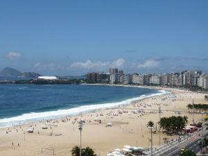 Copacabana vu de l'Olinda hôtel à Rio